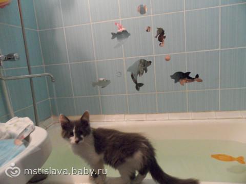 наклейки в ванну))