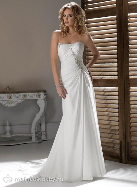 Фото свадебного платья в пол