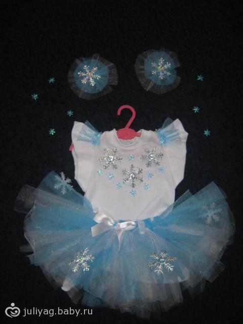 Новогодние костюмы снежинки для девочки своими руками