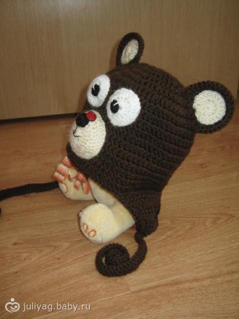 Шапочка «мишка» для мальчика Мишки) - Рукоделие - на бэби.ру