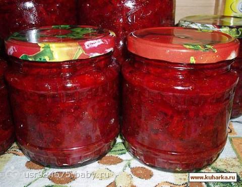 Борщ на зиму с капустой и томатной пастой