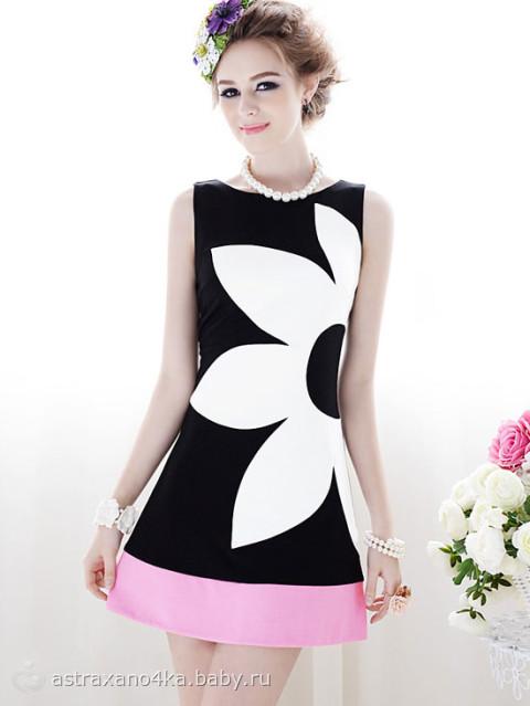 Черно белые платья летние