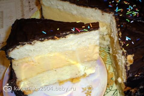 Торт птичье молоко на бэби ру