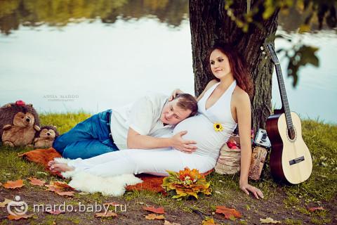 фотосессия беременных осенью на природе фото