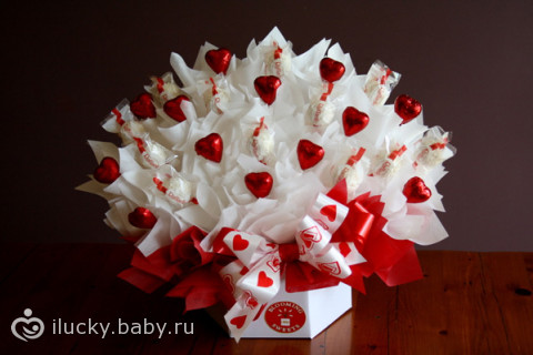Как своими руками сделать букет из конфет