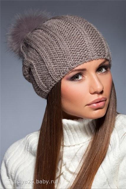 модные женские вязанные шапки 2013 шапка крючком фото - Вязаные вещи - Алсу