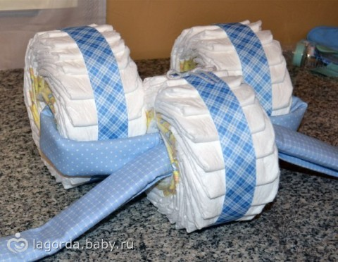 Как сделать машинку из подгузников
