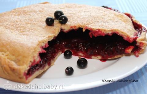 Пирожки с черной смородиной рецепт с фото