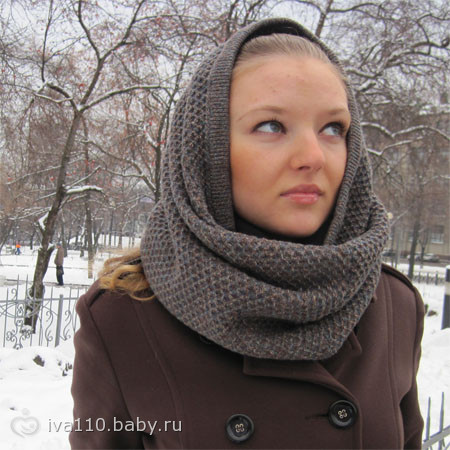 вязание шарф хомут