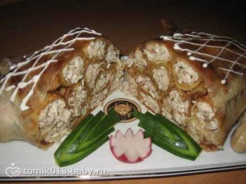 курица с блинами внутри рецепт с фото