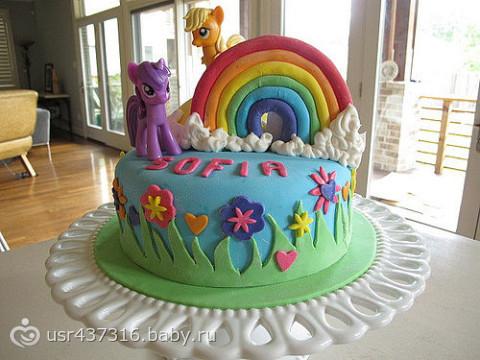 торт для дочки на 7 лет фото