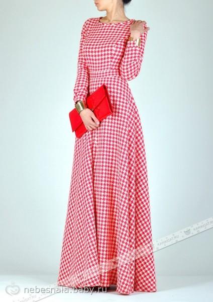 Сшила платье в пол с юбкой солнце