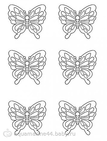Бабочки из айсинга - на бэби.ру