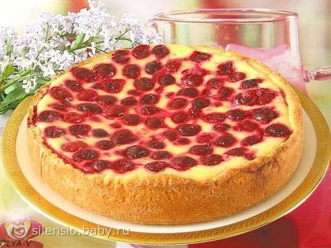 Сметанный пирог с вишней рецепт с фото