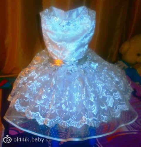 Сшить платье снежинку своими руками