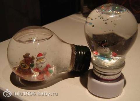 Видео как сделать снежный шар своими руками