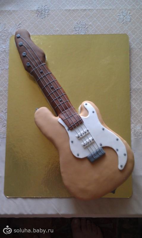 Торт гитара как его сделать 363
