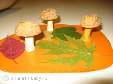 Поделки из природного материала с детьми 4-5