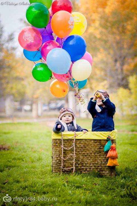 Корзина воздушного шара для фотосессии своими руками