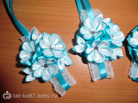 Браслеты для подружек невесты канзаши
