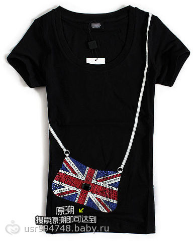 Футболка женская британский флаг
