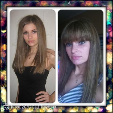 фото челка до и после