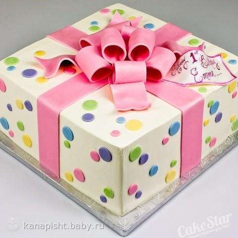 Фото подарка с тортом