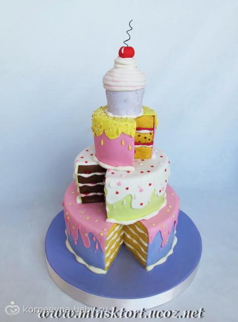 торт на 3 года знакомства