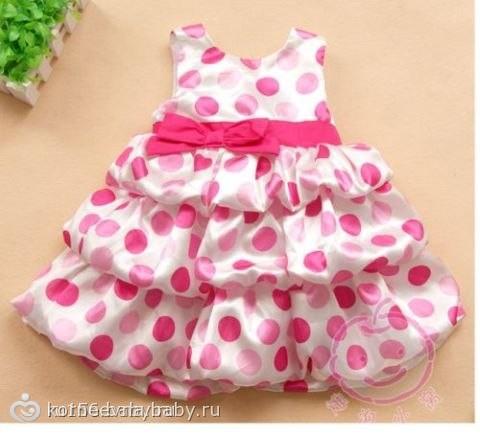 Платье для девочки 1 годика сшить своими руками