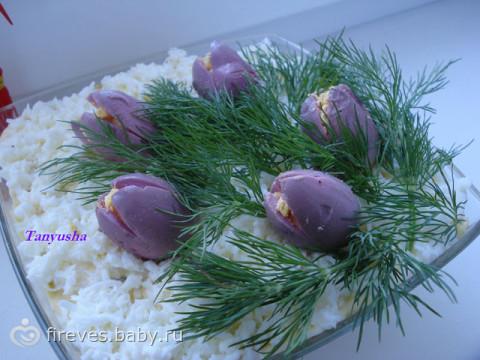 украшения салатов для праздничного стола фото и рецепты