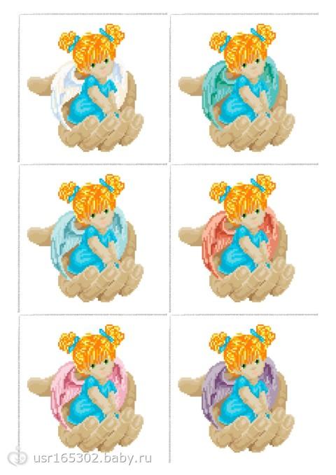 Схема вышивки Ангелочек в руке