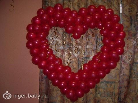 Сердце своими руками шарами
