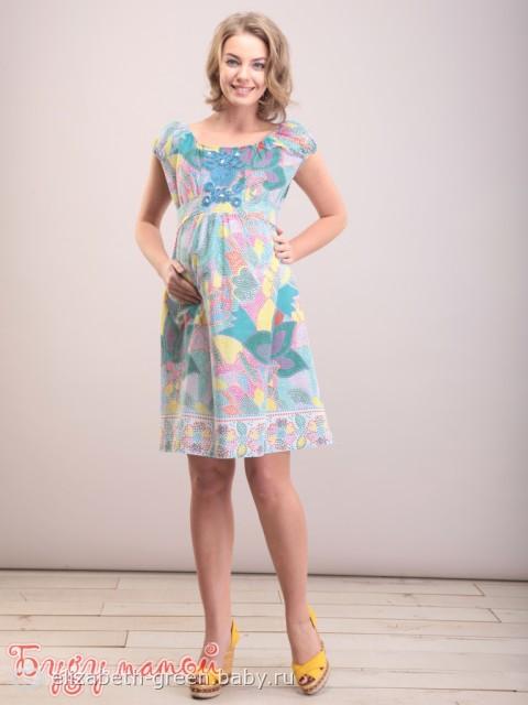 Красивые летние платья для беременных 7
