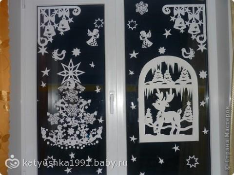 украшаем окна к новому году.