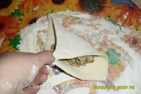 Слойка из курицы рецепт с пошагово