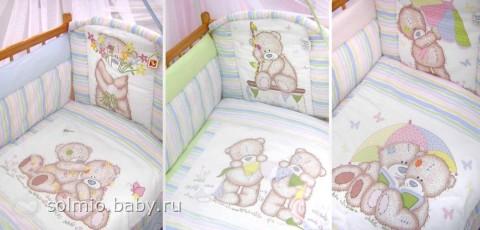 Бортики для кроватки новорожденных своими руками