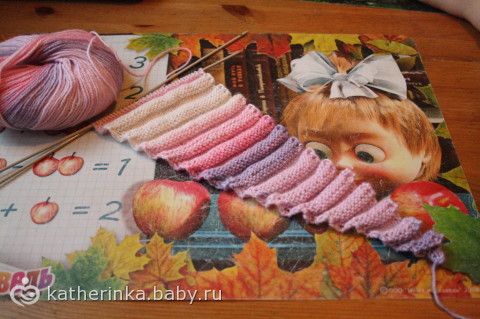 Шарф-волнорез / вязаный шарф волнорез