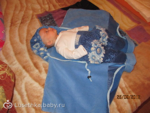 Конверт для новорожденных летний своими руками