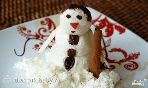 Фото рецепт торта снеговик