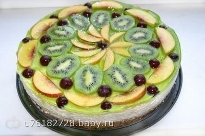 Оформление тортов фруктами на бэби