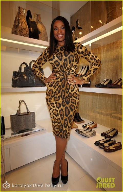 Длинное леопардовое платье (3775) - купить оптом в интернет