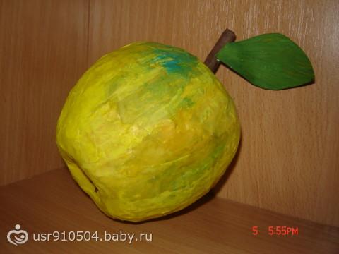 Яблоко из папье маше