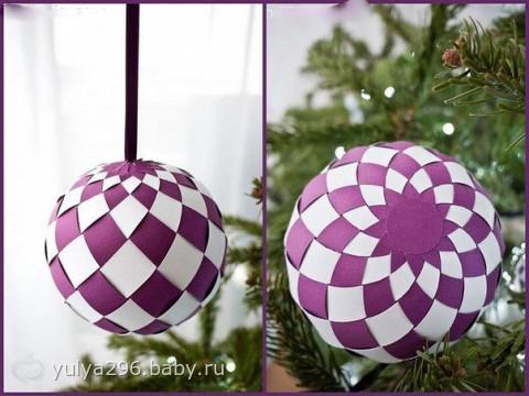Как сделать елочные шарик