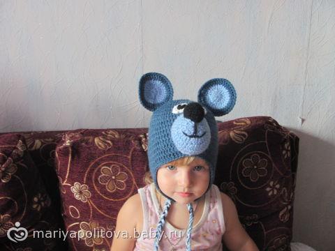 Шапка- Мишка, похожий на