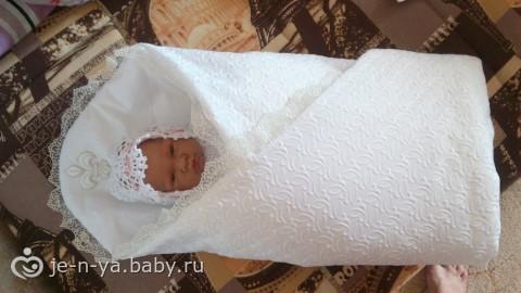 Это я, можно сказать, шила чтобы посмотреть как выйдет)) В итоге на выписку будет одеялко