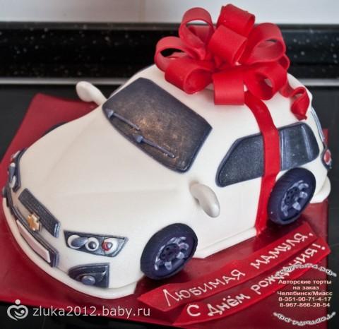 Торт в виде автомобиля фото