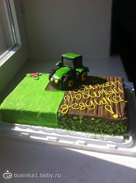 торт в виде трактора фото для парня свет, вода