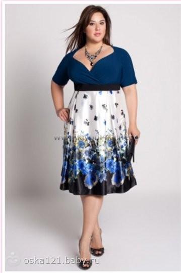 Фото платьев на полную фигуру
