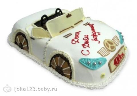 Фото тортов в виде машинок для детей