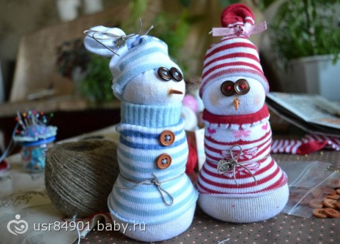Новогодние снеговики. Делаем сами.